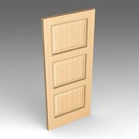 wood door 3d fbx
