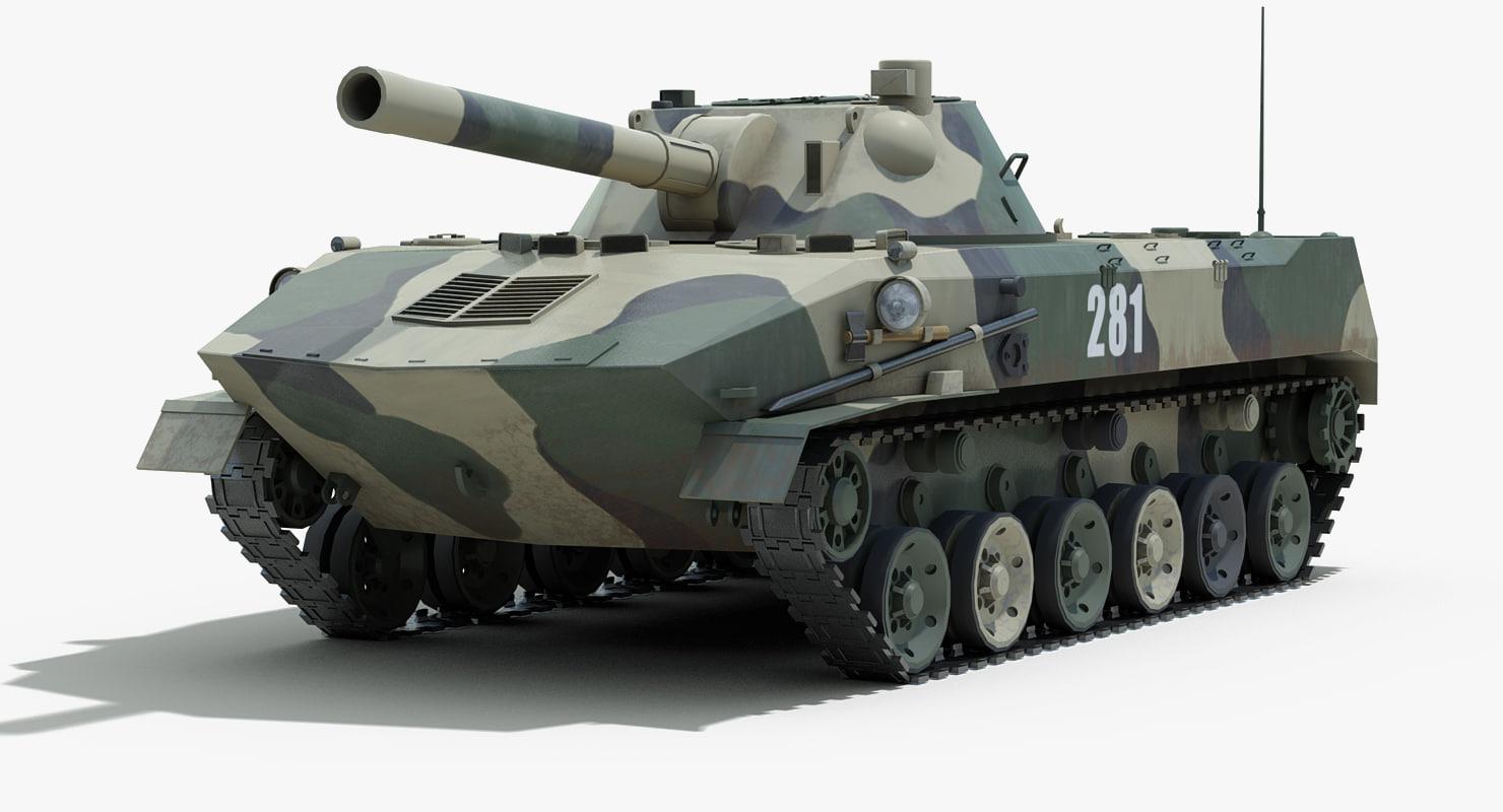 3d 3ds soviet 2s9 nona