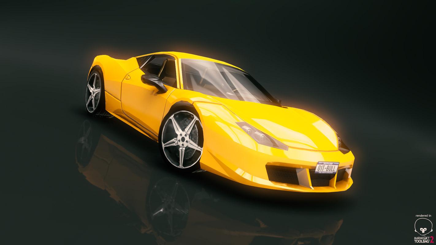 fantastic race car 9 3d obj