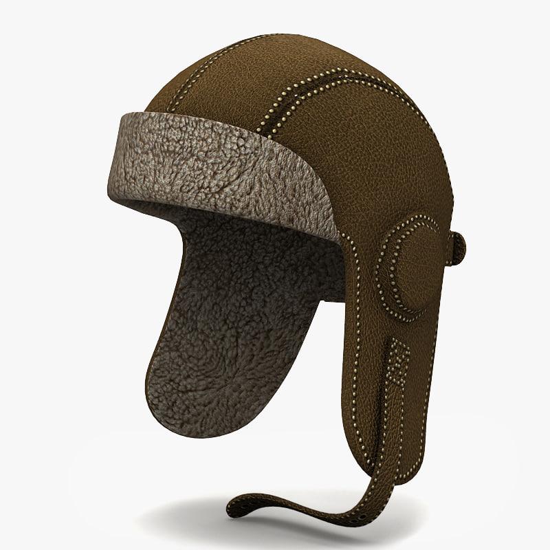 3d hat pilot model