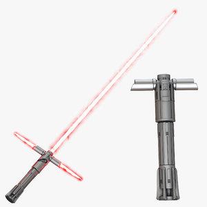 kylo ren lightsaber set 3d max