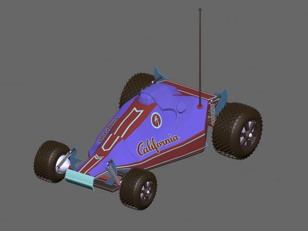 racing car toy 3d max
