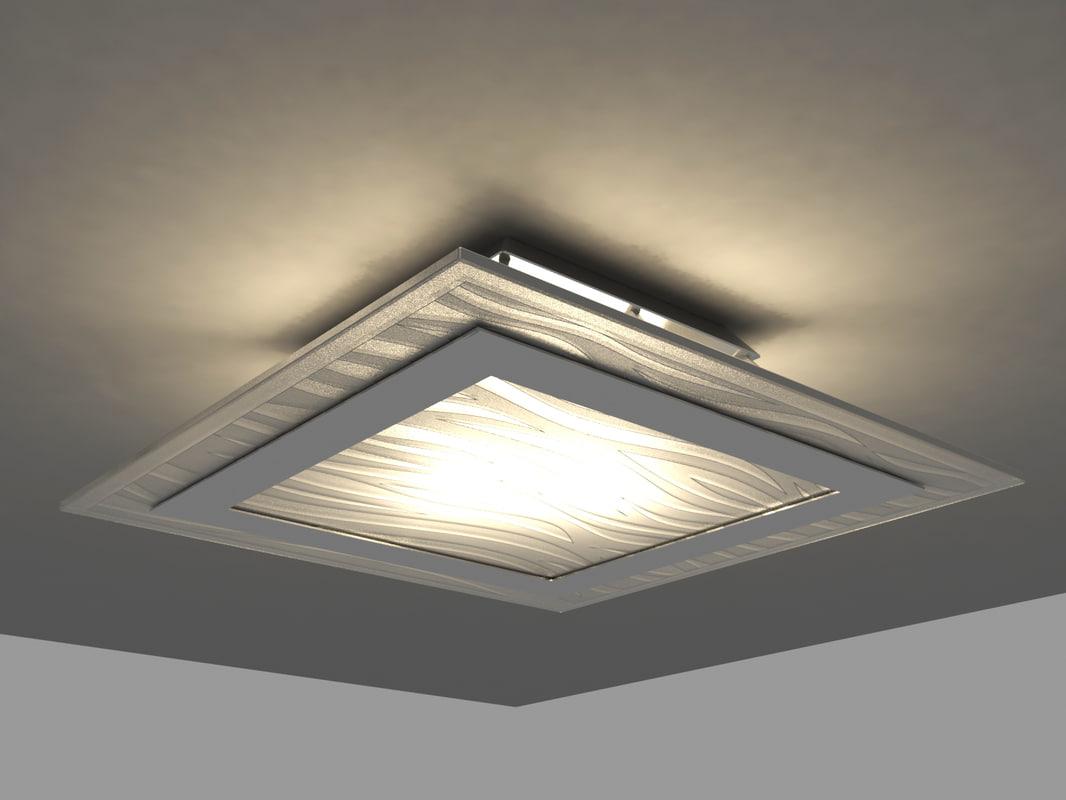 3d model ceiling lamp blitz wall