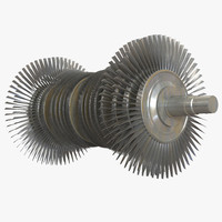 steam turbine 3d model