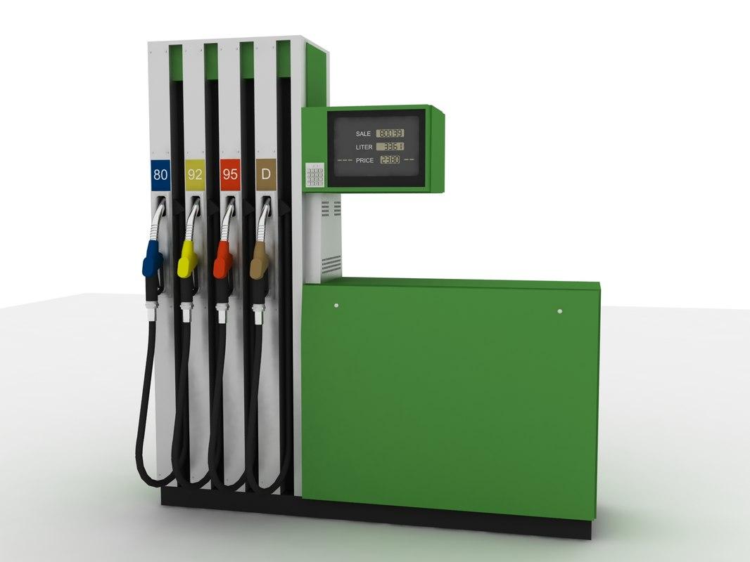3d fuel dispenser model