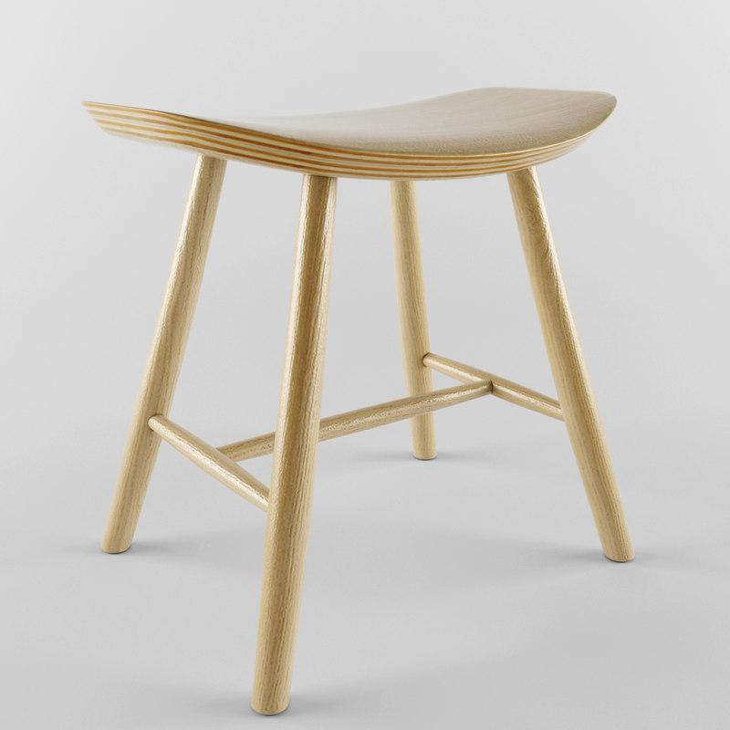 3d stool fredericia j63