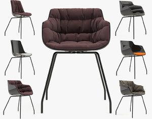 chair flow slim 3d model