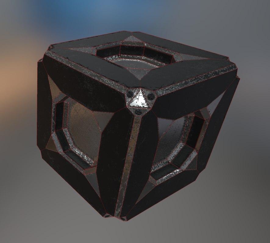 box metallic blender 3ds