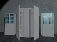 wardrobe book cases 3d model