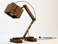 3d photo realistic wooden desk model