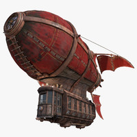 3d model airship scarlet sails