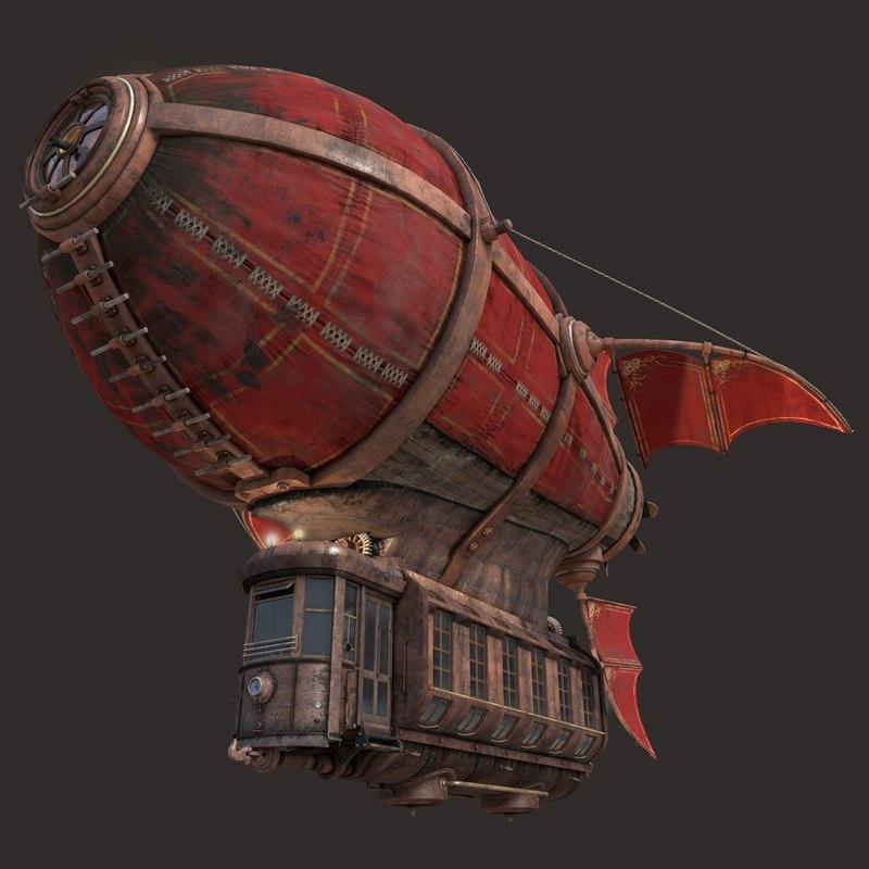 3d model airship scarlet sails
