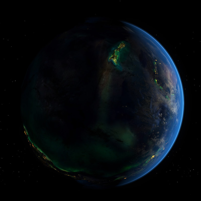 3d model earth day night