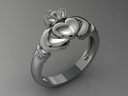 Claddagh ring 3D models
