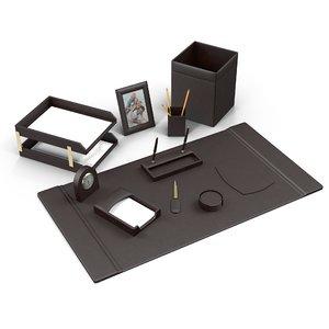 3d model leather desk set