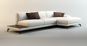 sofa shade italian factory 3d model