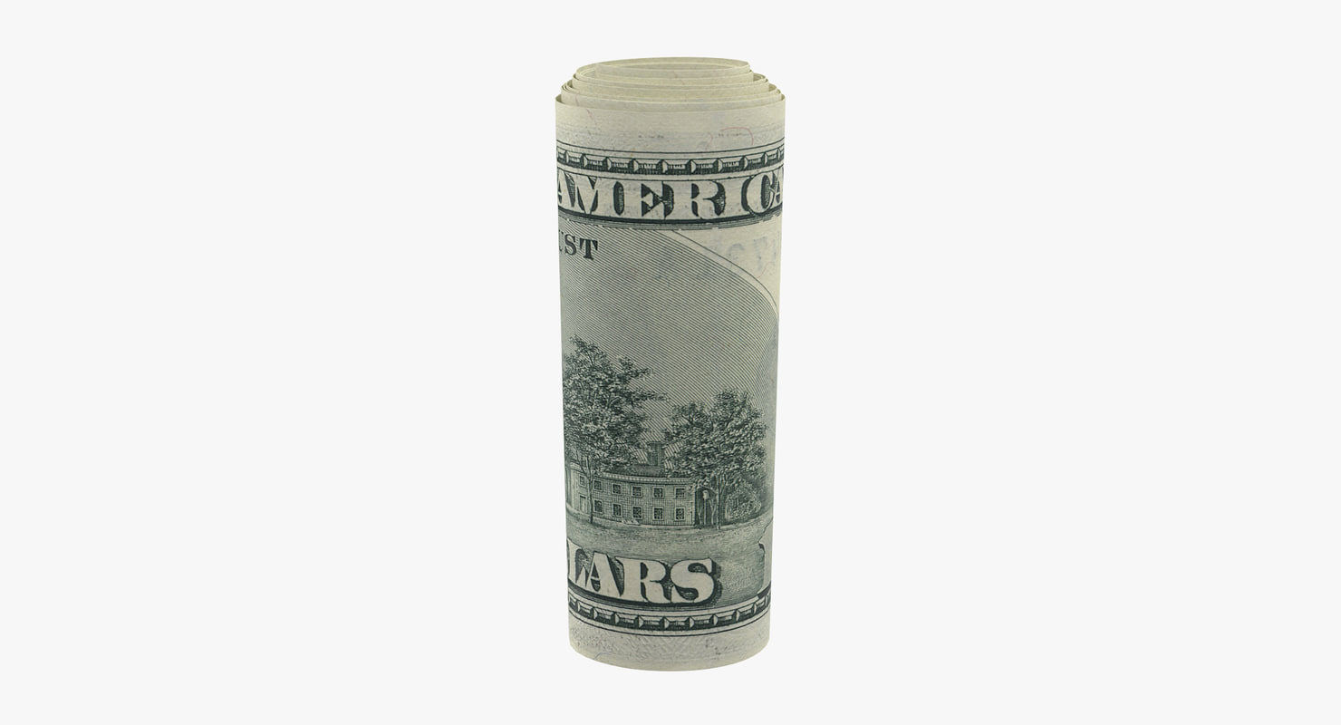 3d roll 100 dollars bills