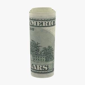 3d roll 100 dollars bills