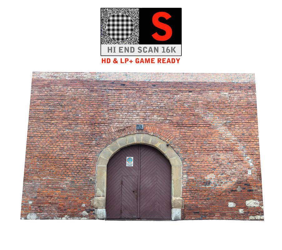 3d model of old city gate 16k