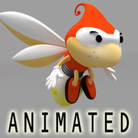 3d flying hero model