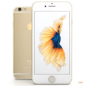 iphone 6s gold 3d model