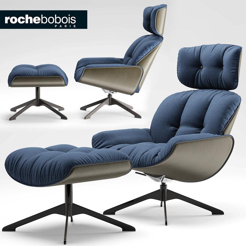 chair armchair roche 3d model