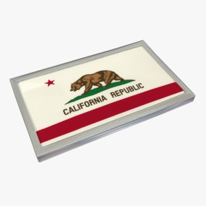 3d door magnet california republic model