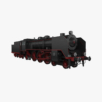 3d pm36 steam locomotive model