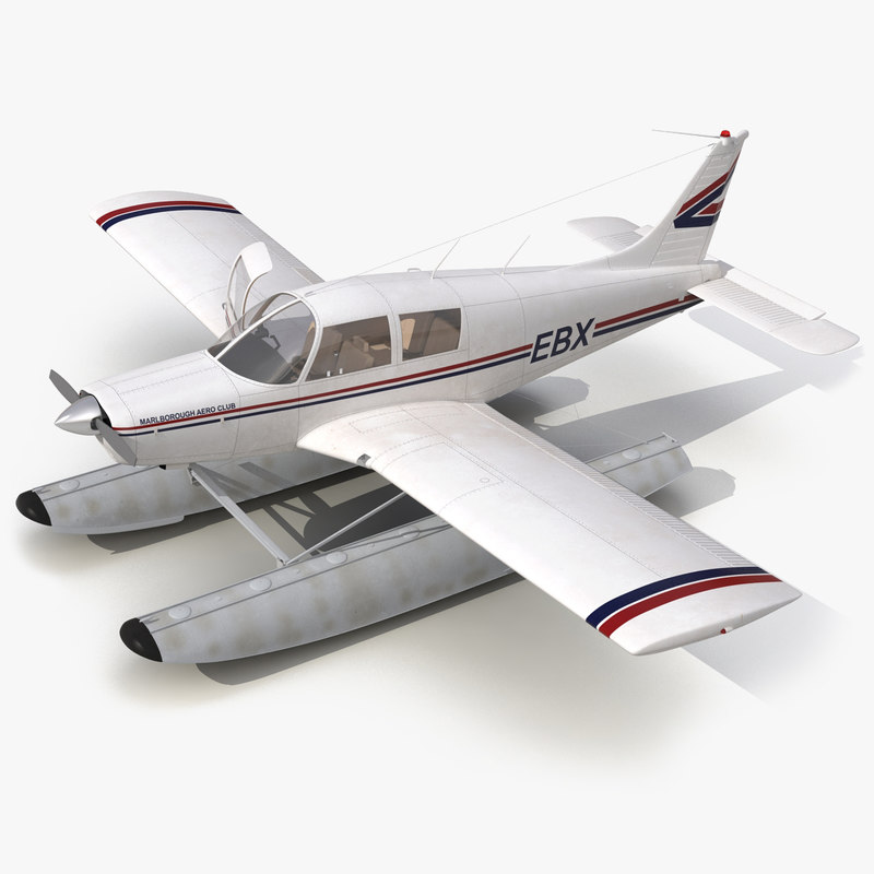 light aircraft piper pa 3d model