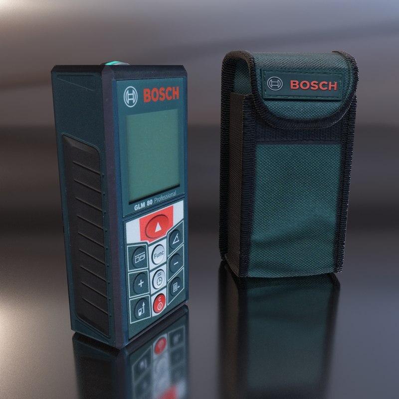 3d bosch glm 80 range model