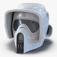 scout trooper helmet modeled 3d model