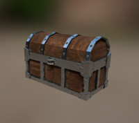 Lowpoly treasure chest