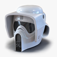 Star Wars Scout Trooper Helmet 3D Model