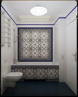 3d model classical washroom