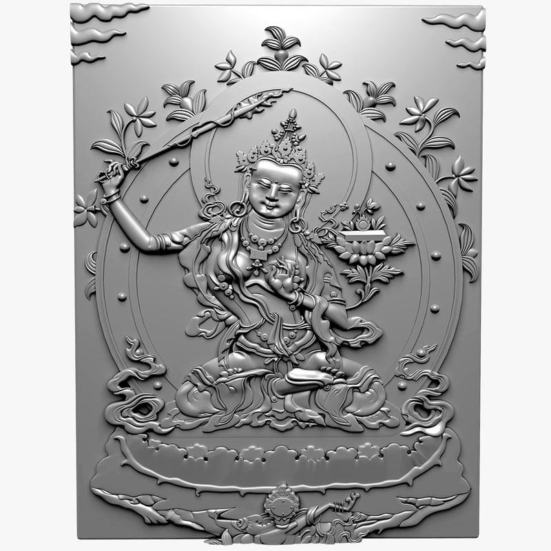 buddha manjushri 3d model