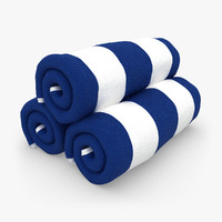 Towel Roll Blue White
