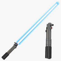 Luke Skywalker Lightsaber 3D Models Set