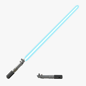 3d luke skywalker lightsaber used model