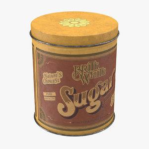 3ds max vintage kitchen tin sugar