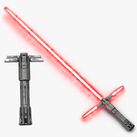 Kylo Ren Lightsaber Used 3D Models Set