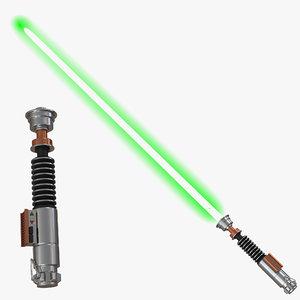3d luke skywalker lightsaber 2