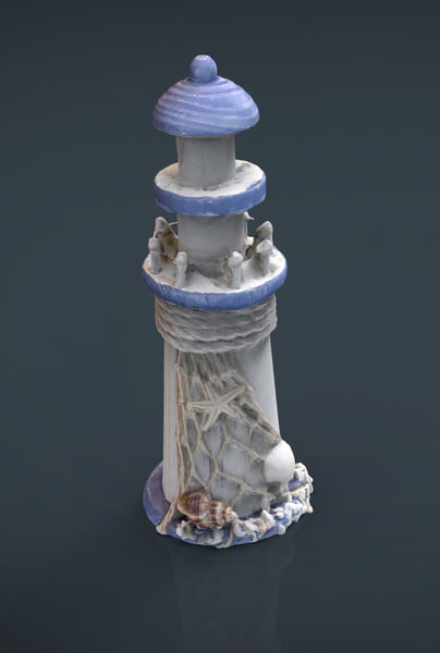 3d lighthouse decorative