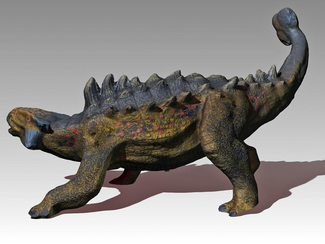 ankylosaur ankylosaurus 3d model