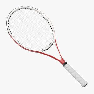 3d tennis racket 01 model