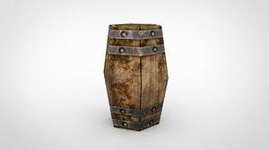 barrels modeled 3d obj