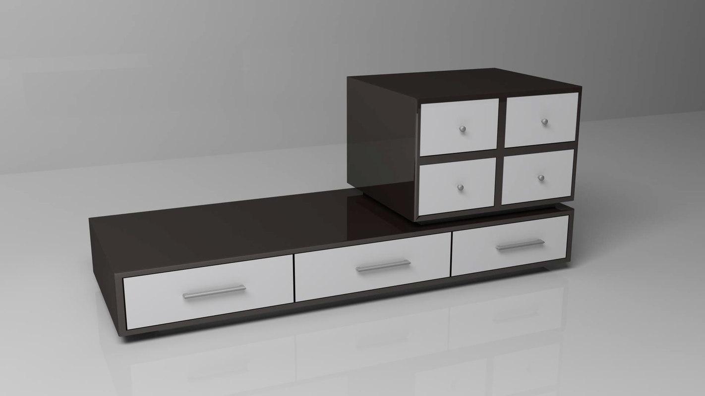 3d black white model