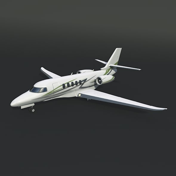 3d cessna business jet