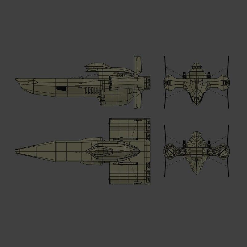 starship bebop obj free