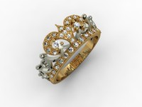 3dm crown ring