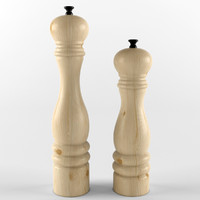3d model salt pepper shaker